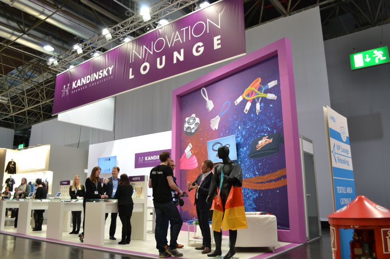 Innovation Lounge - KANDINSKY Messestand auf der PSI