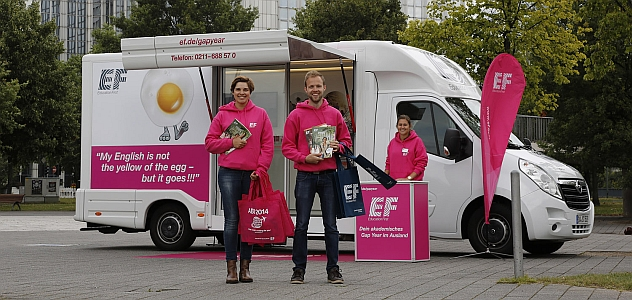 """Gap Year""- Roadshow für Education First"